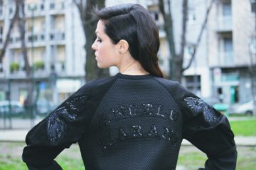 The Style Pusher Lavinia Biancalani wearing Angelo Marani Milan Fashion Week Fashion Blogger