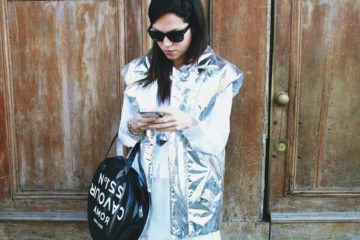 The Style Pusher Lavinia Biancalani wearing Marios 5 Preview Ray Ban Wayfarer Milan Fashion Week Fashion Blogger