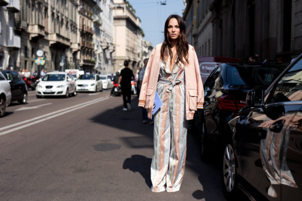Lavinia Biancalani, Milan Fashion Week, Giorgia Fiore, pajama fashion trend, how to wear pajama