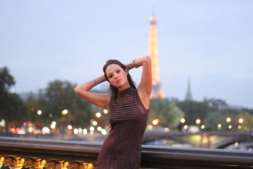 Lavinia Biancalani, Eiffel Tour, Missoni, Paris Fashion Week, Paris at night