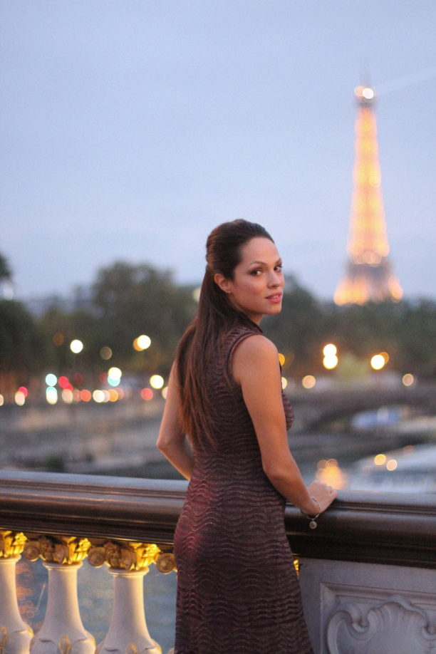 Lavinia Biancalani, Eiffel Tour, Missoni, Paris Fashion Week at night
