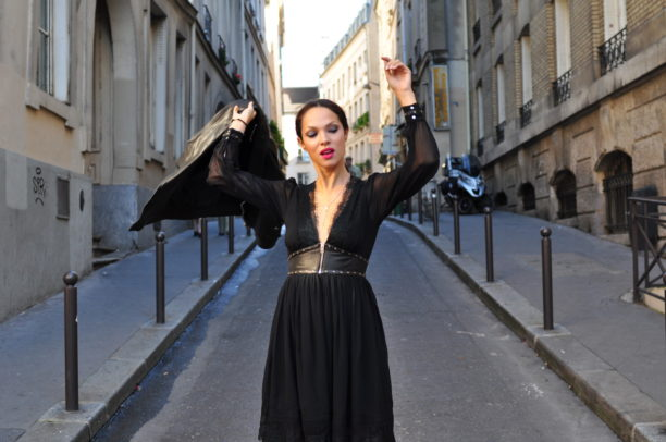 lavinia biancalani, diesel black gold, paris fashion week street style