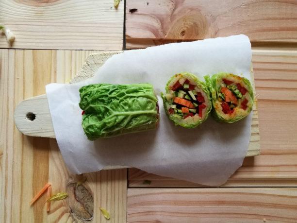 cooking, food, vegan, verza, roll, wrap, patate, viola berti, lavinia biancalani, the style pusher