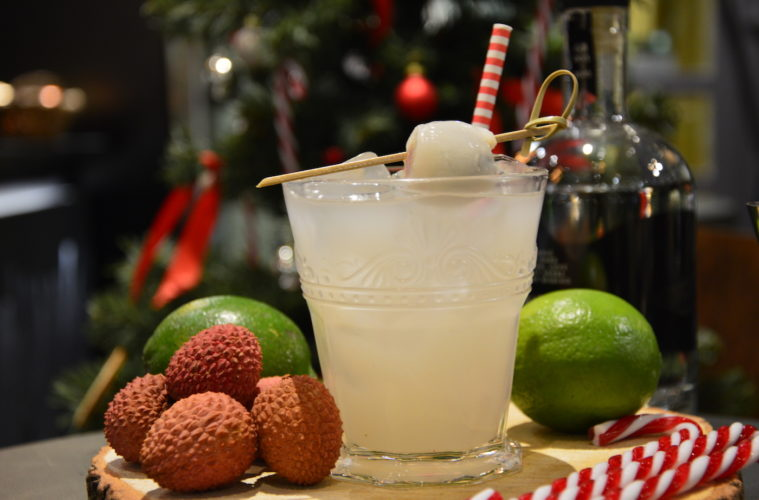 litchi, lici, lychee, gin, mixology, gabriele stillitani, cocktail, bartender, drink, lavinia biancalani, the style pusher, christmas cocktail, christmas, xmas