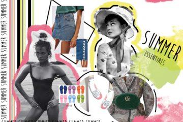 valigia, summer essentials, pool slides, cappello, minigonna, miniskirt, costume intero, marsupio, funny pack, domizia vanni, stylist, style tips, stylish, trends, ss17