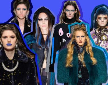 beauty, make up, hair, blu, color, fall 1017, bianca balzano, fall winter 2017, autunno inverno 2017